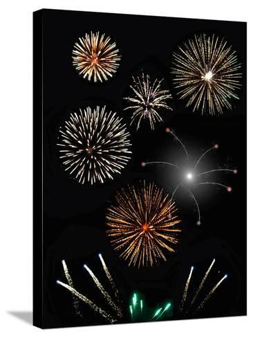 Fireworks-Pixelbliss-Stretched Canvas Print