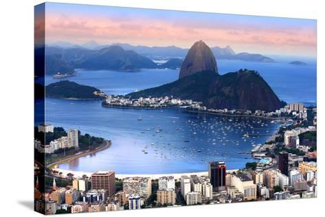 Rio De Janeiro, Brazil in the Evening Sun Light-SNEHITDESIGN-Stretched Canvas Print
