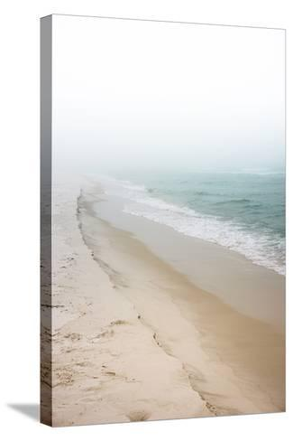 Foggy Dreamy Day at the Beach-forestpath-Stretched Canvas Print