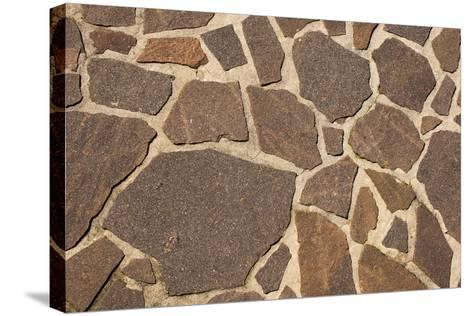 Stone Floor Background- Alberto SevenOnSeven-Stretched Canvas Print