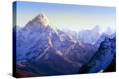 Himalaya Mountains-Microstock Man-Stretched Canvas Print