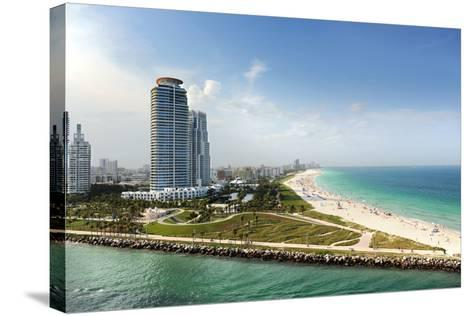 Miami Beach in Florida with Luxury Apartments and Waterway-Gino Santa Maria-Stretched Canvas Print