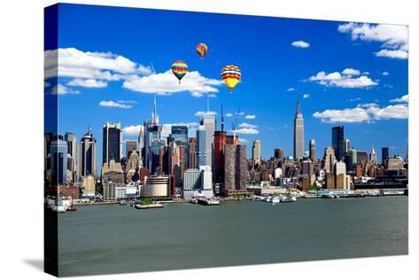 The Mid-Town Manhattan Skyline on A Sunny Day-Gary718-Stretched Canvas Print