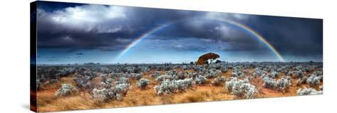 Rainbow in the Australian Desert-kwest19-Stretched Canvas Print