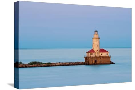 Chicago Harbor Light.-rudi1976-Stretched Canvas Print