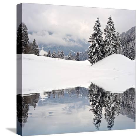 Winter Scene-ajn-Stretched Canvas Print