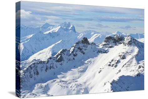 The Alps-M. Sutherland-Stretched Canvas Print