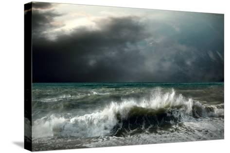 View of Storm Seascape-yuran-78-Stretched Canvas Print