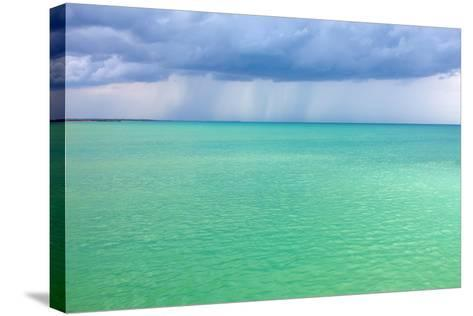 Storm Clouds over the Turquoise Sea- qiiip-Stretched Canvas Print