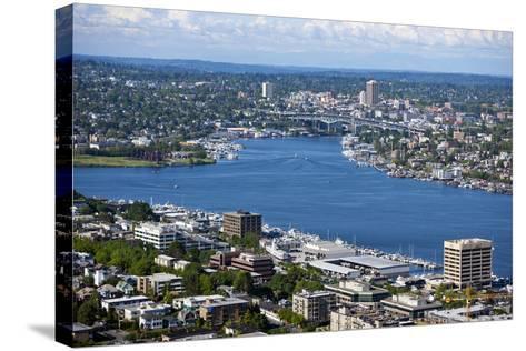 View of Puget Sound from Space Needle-Nosnibor137-Stretched Canvas Print