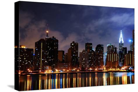 New York City Skyline-kyledover-Stretched Canvas Print