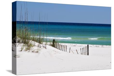 White Sand Beach-Corey Chestnut-Stretched Canvas Print