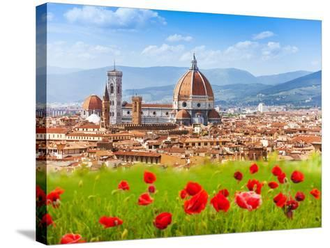 Florence, Duomo and Giotto's Campanile.-SerrNovik-Stretched Canvas Print