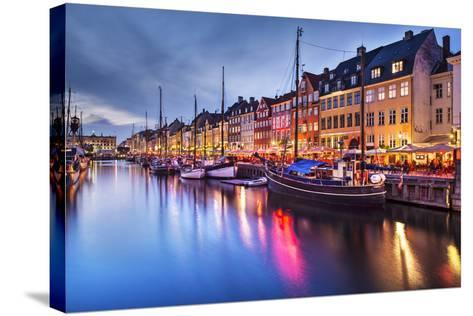 Nyhavn Canal in Copenhagen, Demark.-SeanPavonePhoto-Stretched Canvas Print
