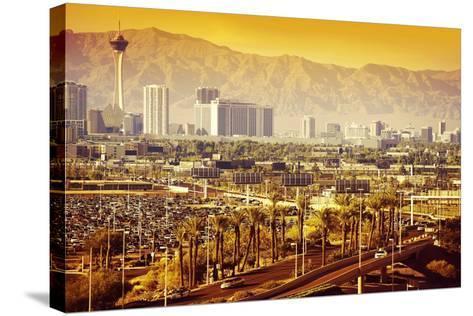 Las Vegas Nevada Cityscape-duallogic-Stretched Canvas Print