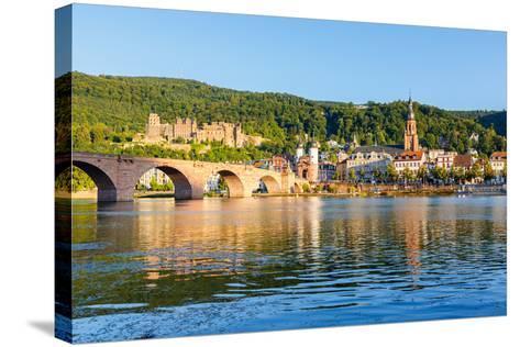 Bridge in Heidelberg, Germany-sborisov-Stretched Canvas Print