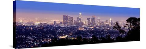 Los Angeles Skyline Panoramic-rebelml-Stretched Canvas Print