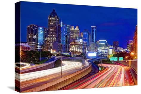 Downtown Atlanta, Georgia, USA Skyline.-SeanPavonePhoto-Stretched Canvas Print