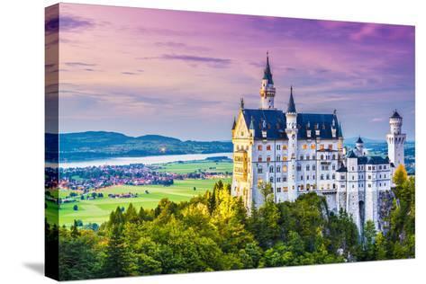 Neuschwanstein Castle in Germany.-SeanPavonePhoto-Stretched Canvas Print