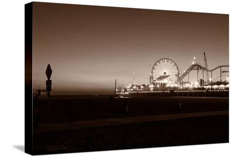 Santa Monica Pier-CelsoDiniz-Stretched Canvas Print