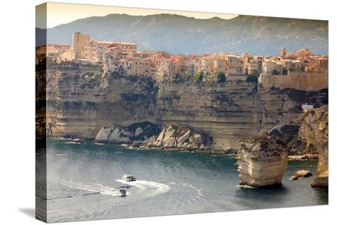 Bonifacio Town on Cliff, Corsica Island, France-smithore-Stretched Canvas Print