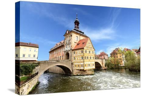 Town Hall on the Bridge, Bamberg, Germany-Zoom-zoom-Stretched Canvas Print