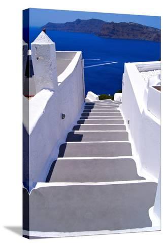 Greek Lane-Jeni Foto-Stretched Canvas Print