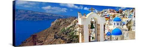Amazing Santorini - Panoramic View-Maugli-l-Stretched Canvas Print