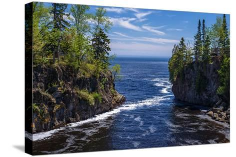 Temperance River, Lake Superior-Steven Gaertner-Stretched Canvas Print