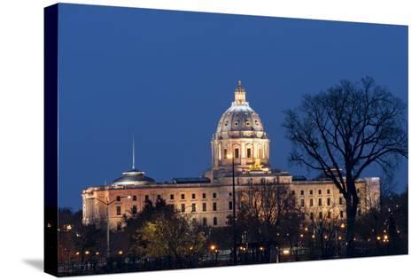 Minnesota State Capitol at Night-jrferrermn-Stretched Canvas Print