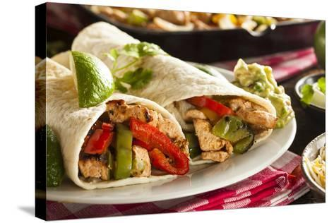 Homemade Chicken Fajitas with Vegetables-bhofack22-Stretched Canvas Print