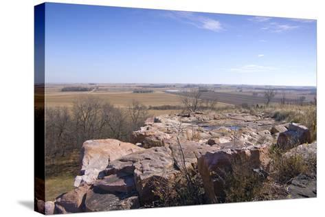 Bluffs and beyond at Blue Mounds State Park-jrferrermn-Stretched Canvas Print
