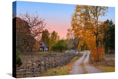 Landscape in Sweden-almgren-Stretched Canvas Print