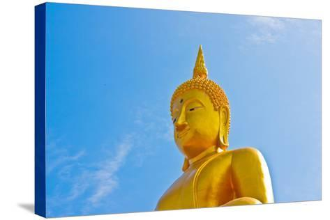 Buddha  Gold Statue-redarmy030-Stretched Canvas Print