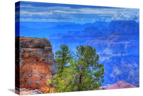 Grand Canyon Storm-diomedes66-Stretched Canvas Print