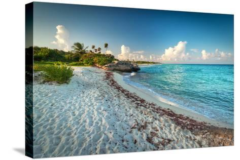 Idyllic Beach of Caribbean Sea in Playacar - Mexico-Patryk Kosmider-Stretched Canvas Print