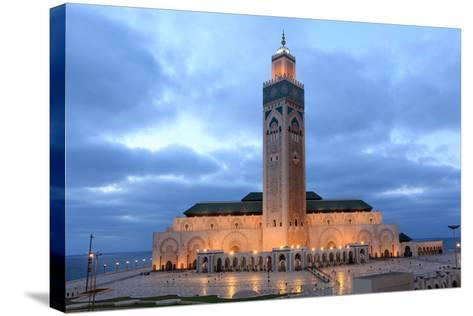 Hassan Ii Mosque in Casablanca-p.lange-Stretched Canvas Print