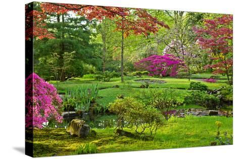 Japanese Garden-neirfy-Stretched Canvas Print