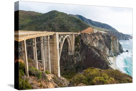 The Historic Bixby Bridge on the Pacific Coast Highway California Big Sur-flippo-Stretched Canvas Print