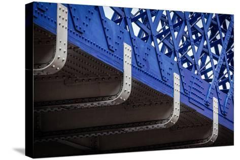 Blue Bridge Detail--Stretched Canvas Print