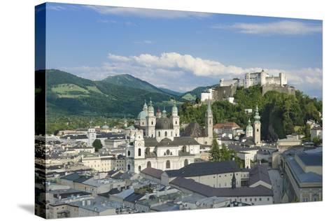 Salzburg City Historic Center with Cathedral-Peter Hermes Furian-Stretched Canvas Print