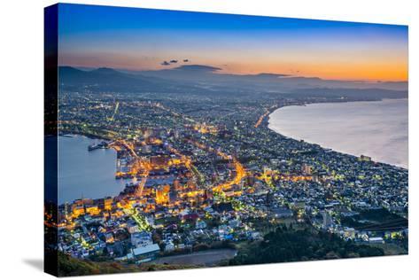 Hakodate, Japan Viewed from Hakodate Mountain.-SeanPavonePhoto-Stretched Canvas Print