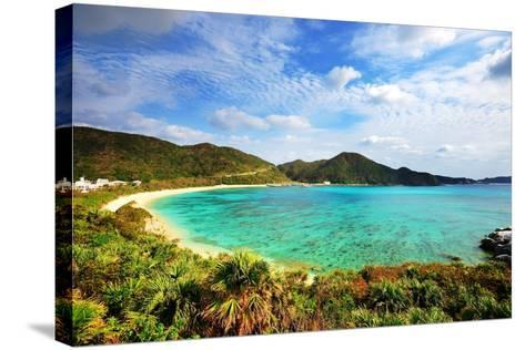 Aharen Beach on the Island of Tokashiki in Okinawa, Japan.-SeanPavonePhoto-Stretched Canvas Print