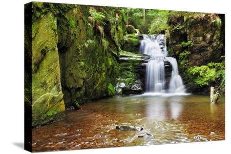 Waterfall in Resov in Moravia, Czech Republic-TTstudio-Stretched Canvas Print