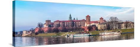 Cracow Skyline with Aerial View of Historic Royal Wawel Castle and City Center-bloodua-Stretched Canvas Print