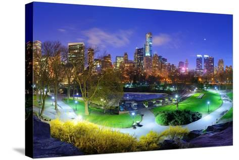 Central Park and Cityscape of New York City-SeanPavonePhoto-Stretched Canvas Print