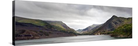 View along Llanberis Pass towards Glyder Fawr and Snowdon-Veneratio-Stretched Canvas Print