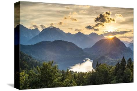 Lake Alpsee in the Bavarian Alps of Germany.-SeanPavonePhoto-Stretched Canvas Print