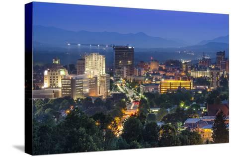Asheville, North Carolina, USA at Twilight.-SeanPavonePhoto-Stretched Canvas Print