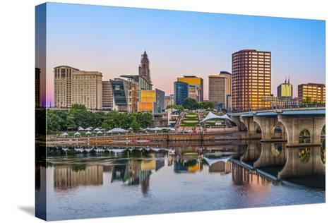 Skyline of Downtown Hartford, Connecticut.-SeanPavonePhoto-Stretched Canvas Print